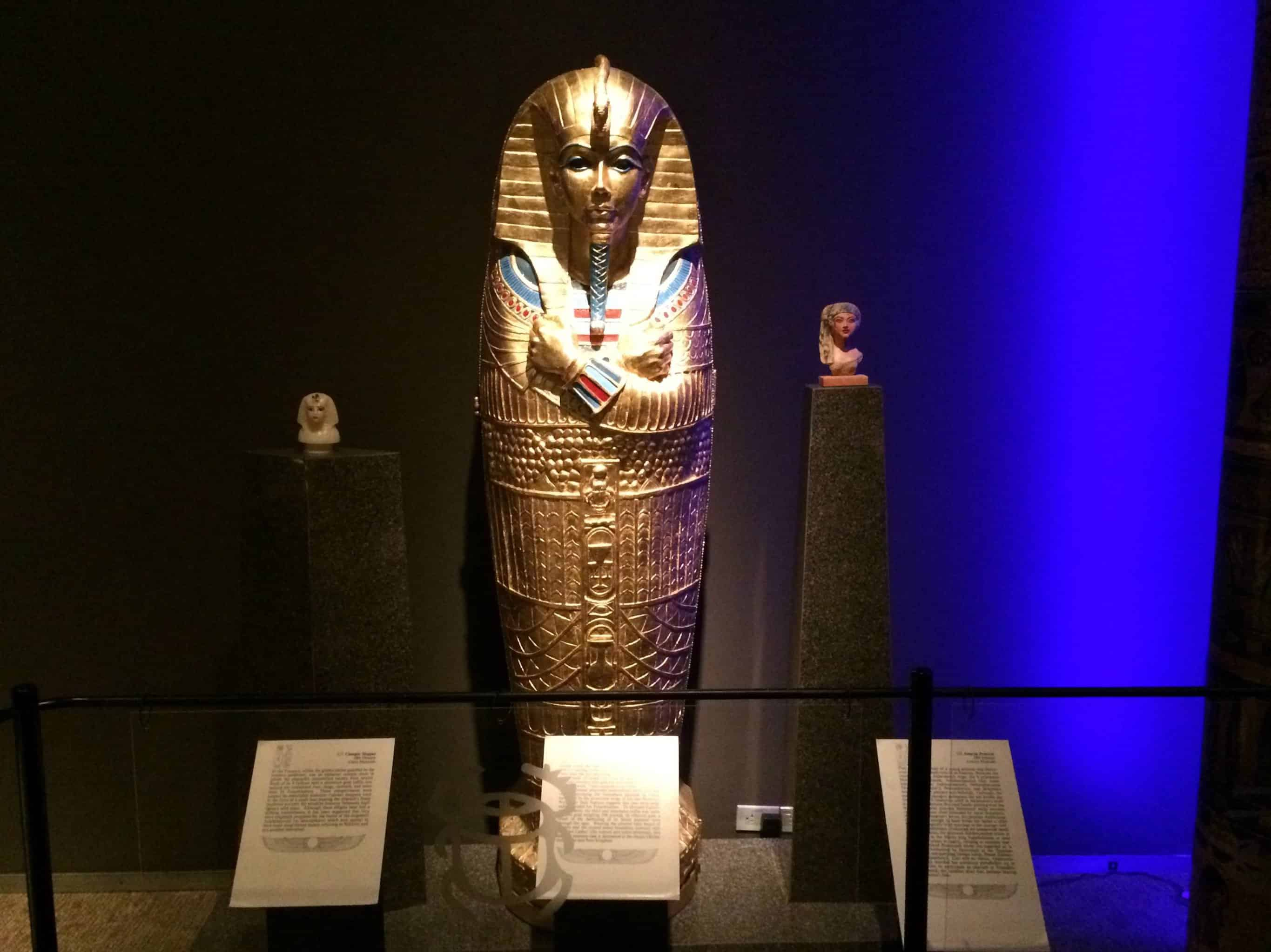 A royal sarcophagus from the King Tut exhibit at the Cranbrook Institute of Science